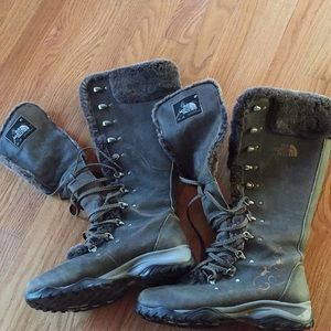North Face tall winter boots women 8.5